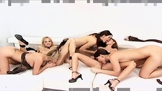 Lesbian Group Licking And Fingering Party