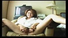 Asian mature slut giving a blowjob