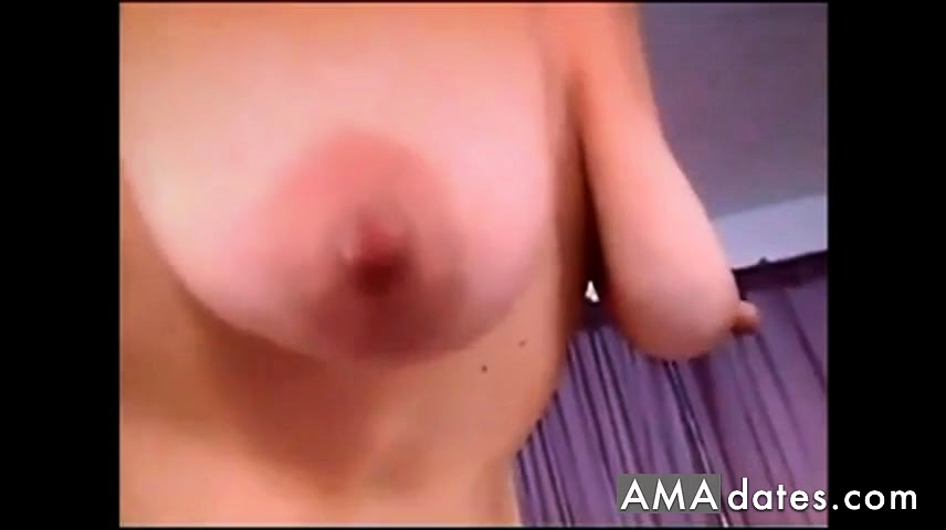 Saggy tits red nipples