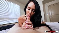 Big ass stepmom jumped on a stepsons big hard cock